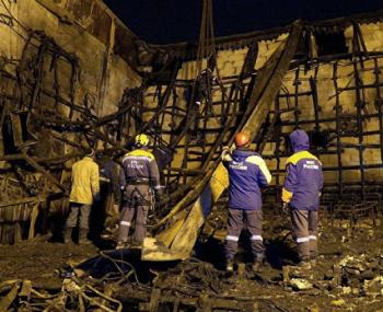 Причину и очаг возгорания в кемеровском ТЦ назвало МЧС