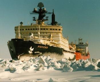 ледокол «Россия» в Арктике