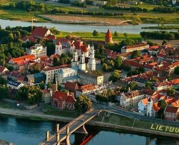 город Каунас в Литве