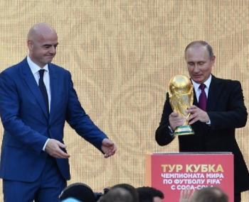 Путин и кубок ЧМ-2018