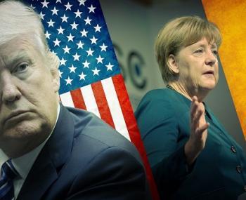 Трамп и Меркель