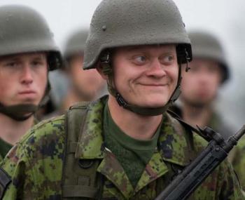 Эстонский военнослужащий
