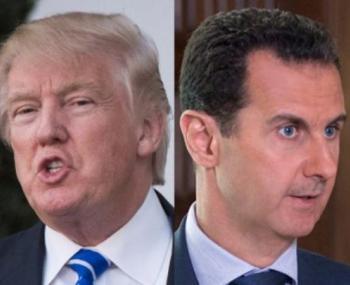 Башар Асад и Дональд Трамп