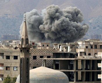 Госпиталь в Сирии под обстрелом