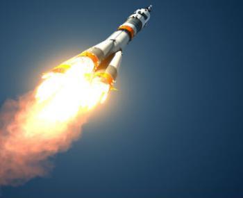 Наса показало видео огня ракетного двигателя