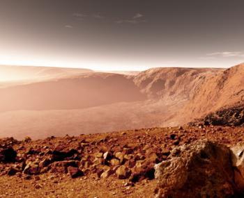 """на Марсе нашли """"живой камень"""""""