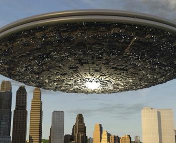 Гигантский НЛО шокировал жителей Кливленда