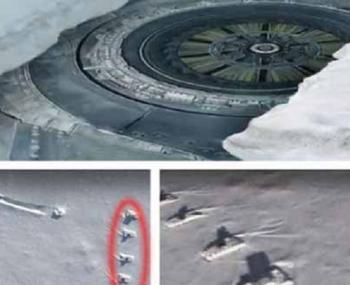 Российский уфолог обнаружил в Антарктике 12-этажный НЛО