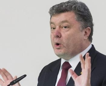 Президент Украины Петр Порошенко выступает перед журналистами