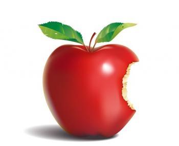 Компания Apple планирует зарегистрировать цветной логотип яблока