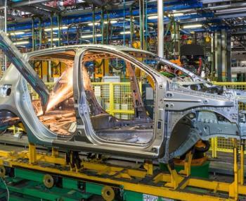 Производство автомобиля на заводе