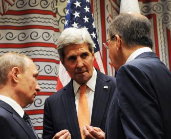Путин, Керри и Лавров