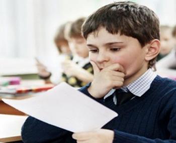 Ученик во время экзаменов