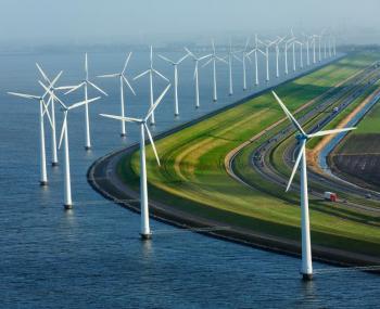 ветряные турбины вырабатывают энергию