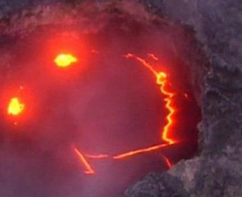 улыбающийся вулкан поразил очевидцев