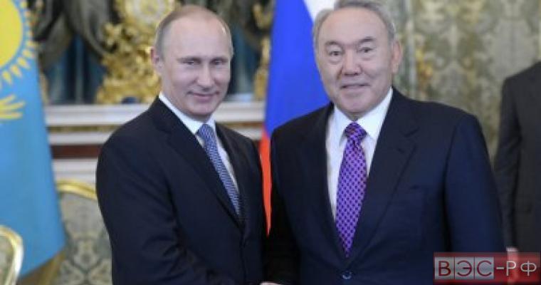 Путин, Назарбаев, Россия, Казахстан