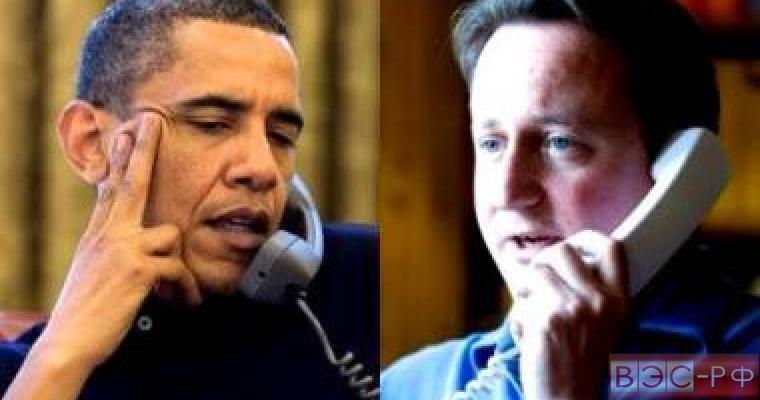 Обама, Кэмерон, телефон, переговоры, Лондон, Великобритания, Вашингтон, США, президент, премьер-министр