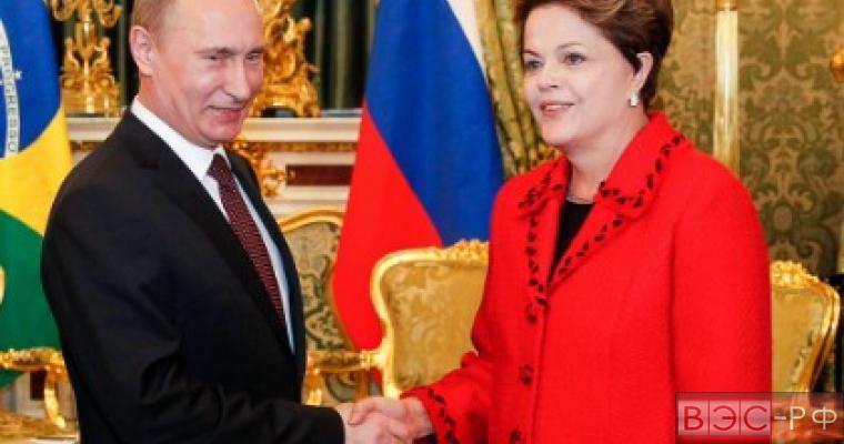Путин прибыл в столицу Бразилии на переговоры с Дилмой Русеф