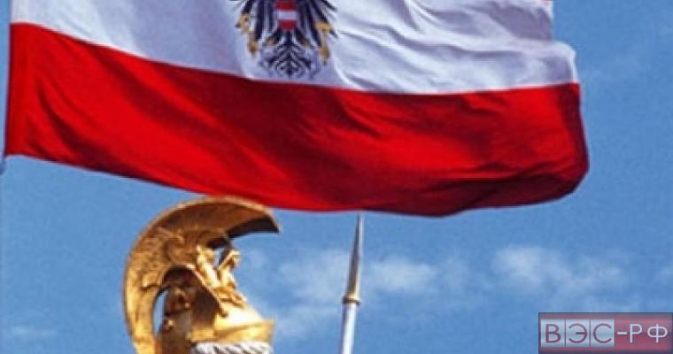 Австрия, флаг, небо