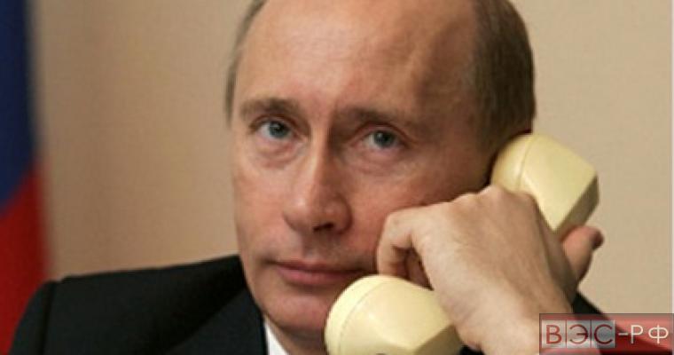 Путин, переговоры, телефон