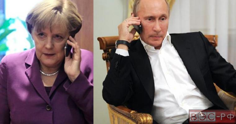 Путин и Меркель: ответственость за ситуацию в Украине лежит на киевской власти
