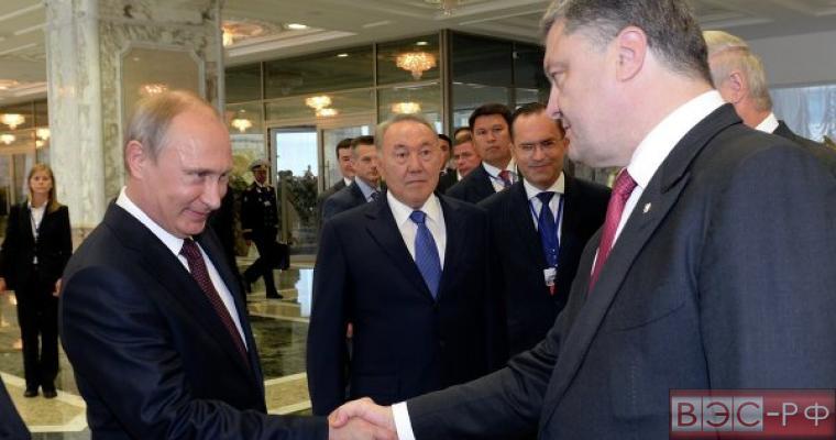 встреча Владимира Путина и Петра Порошенко в Минске