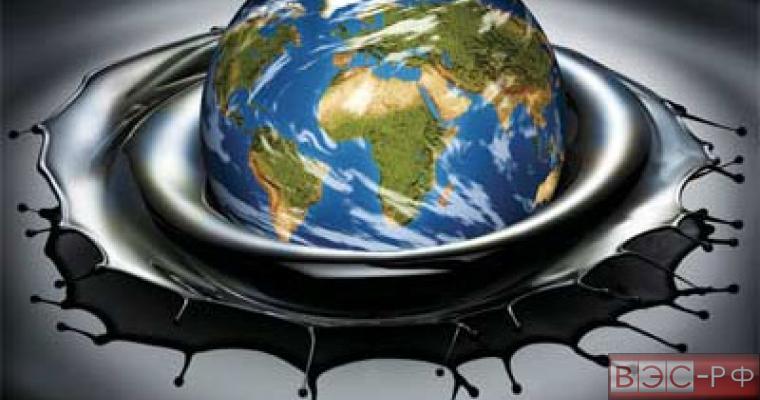 земной шар плавает в нефти