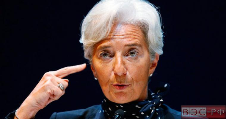 Кристин Лагард, глава Международного валютного фонда (МВФ)