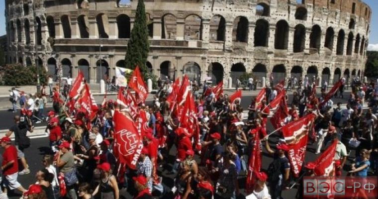 Итальянцы против трудовой реформы