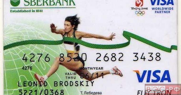 Карта Сбербанка России