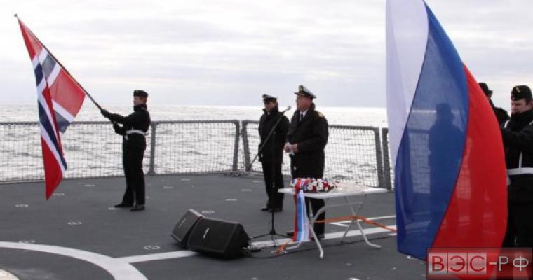 флаг Норвегии, флаг Российской Федерации, военное сотрудничество