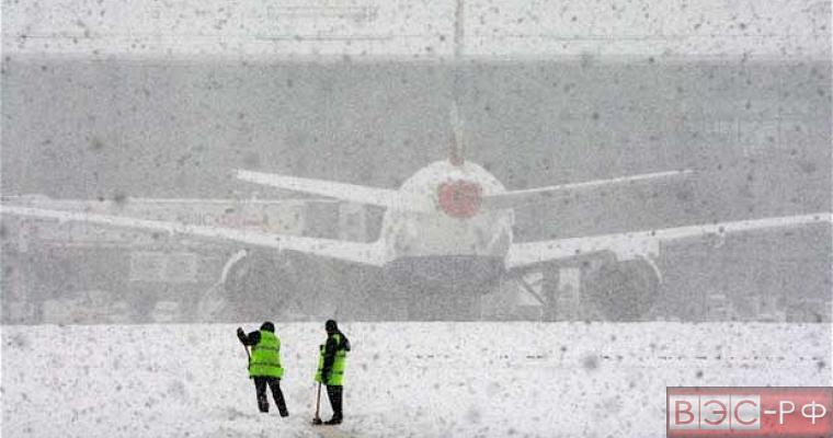 Снег в аэропорту