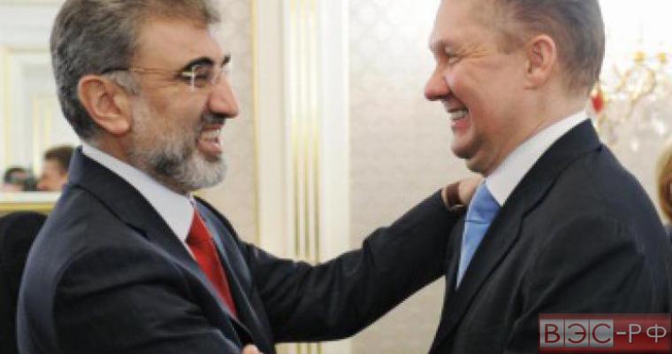 """Глава """"Газпрома"""" Алексей Миллер и  министр энергетики Турции Танер Йылдыз"""
