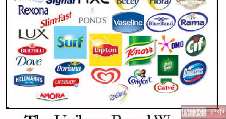 Unilever повшает цены на свой ассортимент в России