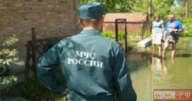 Подтопление из-за паводка в Новосибирской области.