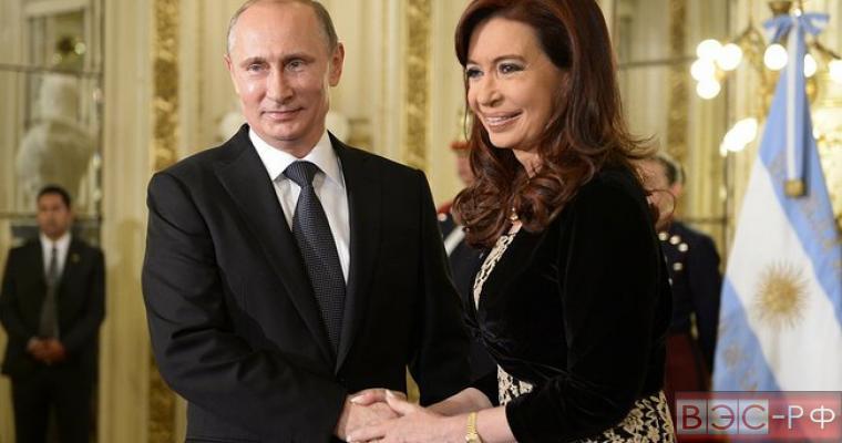 Кристина Киршнер поблагодарила Россию на русском языке за теплый прием