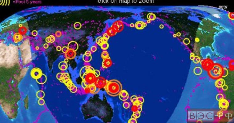Российские метеорологи сообщили об угрозе землетрясений для России
