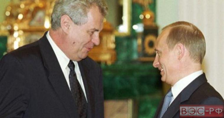 Путин и Земан проведут двусторонние переговоры в Москве 9 мая