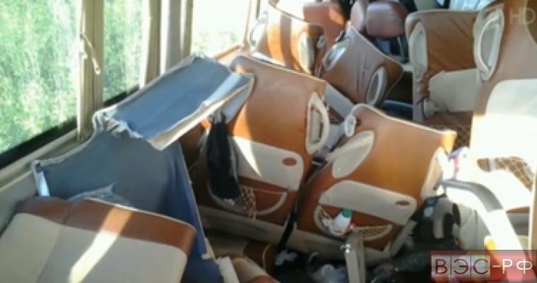 Автобус с детьми попал в ДТП