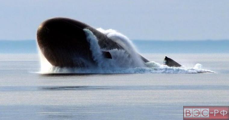 Подводная лодка РФ на границе Латвии