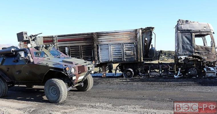 В Турции РПК обстреляли грузовик