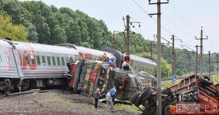 Поезд под Белгородом столкнулся с КамАЗом
