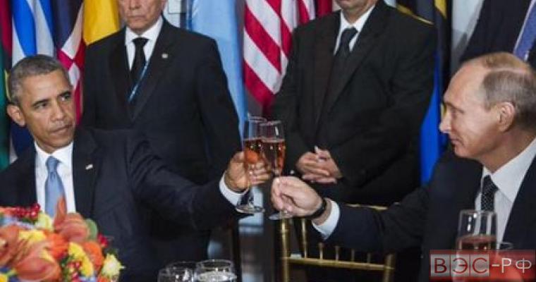 Путин и Обама чокаются