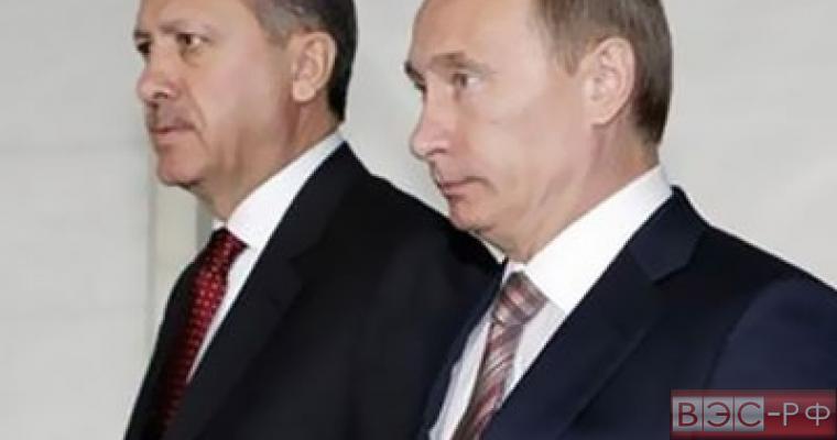 Путин и Эрдоган общались через посредника