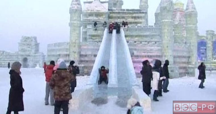 Ледяная горка в Москве