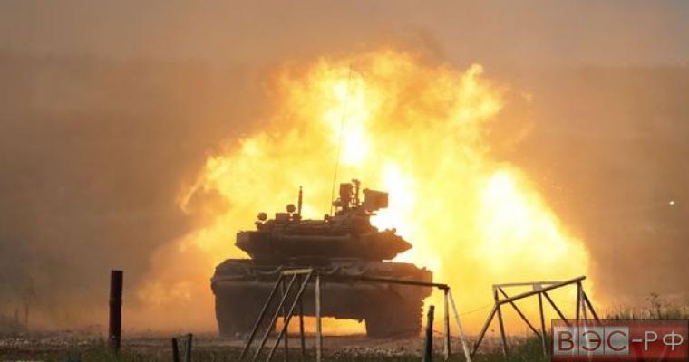 Российский танк Т-90 выдержал удар американской ракеты в Сирии