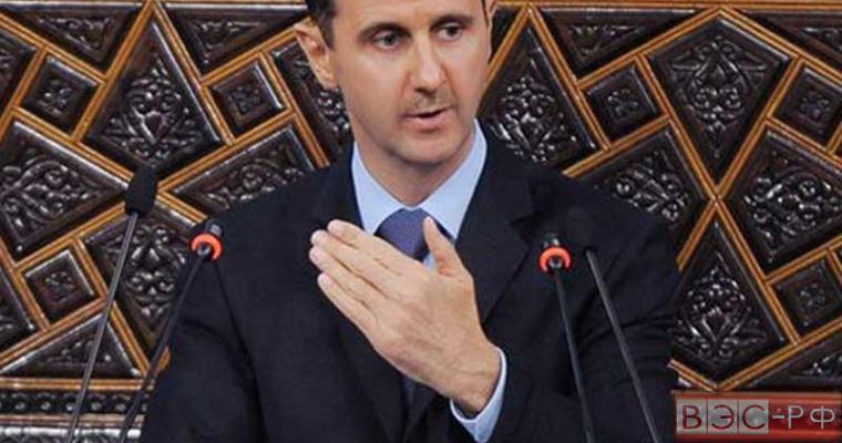 Асад благодарен России и Ирану за помощь