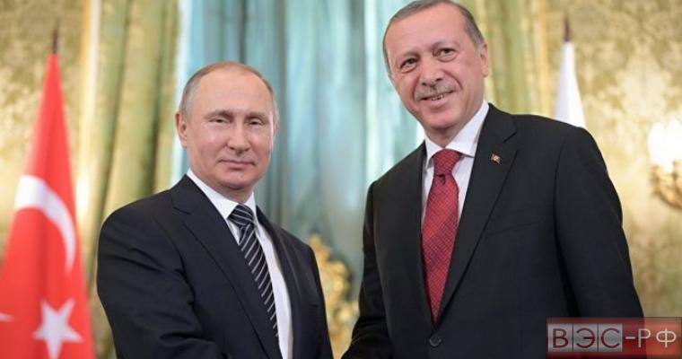 Владимир Путин с Реджепом Тайипом Эрдоганом