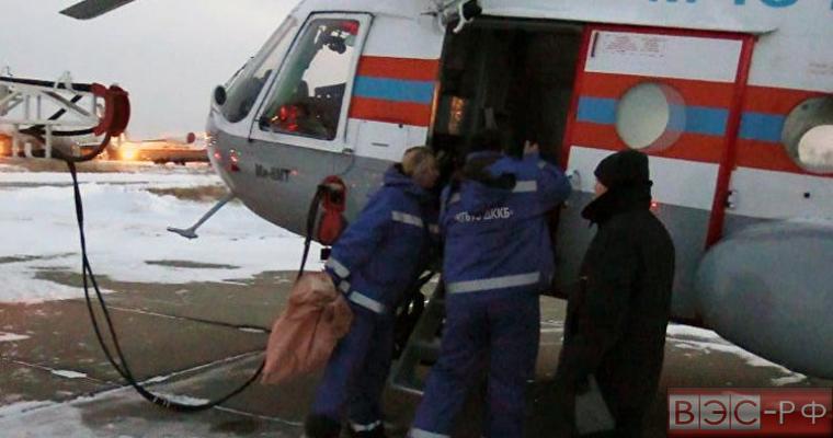 вертолет доставил девочку в Хабаровск