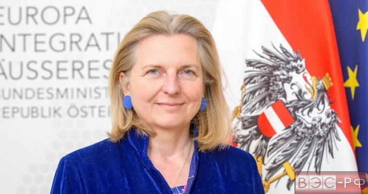 Карин Кнайссль, министр иностранных дел Австрии